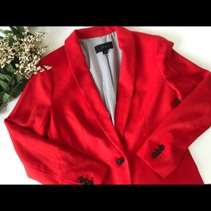 J.Crew 2918 Red Parke Blazer Jacket